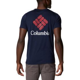 Columbia Maxtrail SS Logo Tee Men collegiate navy